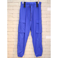 NYLON CARGO PANTS BLUE