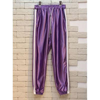 METALIC TRACK PANTS PURPLE