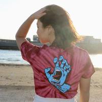 新品 import【SANTACRUZ】サンタクルーズ スクリミングハンド Tシャツ REDタイダイ柄 メンズ/レディース