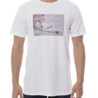 【RVCA】ルーカ&ホソイ コラボTシャツ フォットプリント ホワイト メンズ