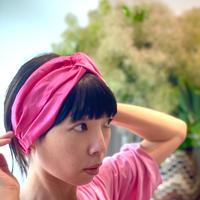 ATWT オリジナル サテンヘアバンド  ピンク
