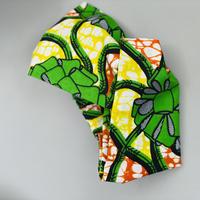 ATWT オリジナル グリーン×イエロー×オレンジリボン柄 ヘアバンド