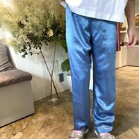 ATWT オリジナル カラーサテンパンツ  ブルー