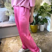 ATWT オリジナル カラーサテンパンツ  ピンク