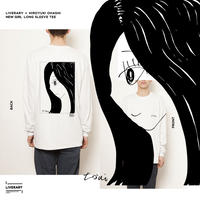 LIVERARY×大橋裕之NEW GIRL LONG SLEEVE Tshirts