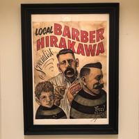 FUSTY WORKS×LOCALBARBER HIRAKAWA ポスター
