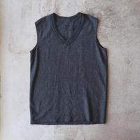 Vintage French Military V-Neck Vest Over Dyed