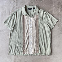 AXIST Bicolor Open Collar Silk Shirts