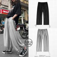 ユニセックス メンズ/レディース スウェットパンツ 裾紐 大きいサイズ ゆったり ストリート系 韓国ファッション オルチャン (DCT-596060214295)