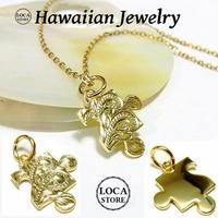 【ハワイアンジュエリー / HawaiianJewelry】 K24 純金 コーティング k24 ペンダント/ネックレス プルメリア (gps8777all24k)