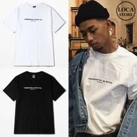 Tシャツ 半袖 メンズ レディース ユニセックス ラウンドネック シンプル 英字 プリント オーバーサイズ 大きいサイズ ルーズ ストリート TBN-534827853722