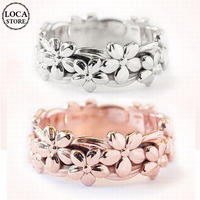 ハワイアンデザイン リング 指輪 花 プリメリアレディース メンズ メッキ K14ローズゴールド 銅 アクセサリー DTC-a570006459084