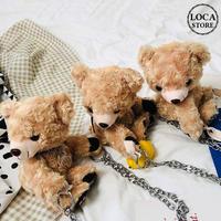 【B・Cタイプ】 3タイプ アニマルバッグ クマ ベアー 韓国ファッション バッグ かわいい ぬいぐるみ ショルダーバッグ ファーバッグ ミニバッグ DTC-601746414357