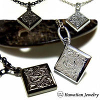 【ハワイアンジュエリー / HawaiianJewelry】 ネックレス/ネックレス プルメリア スクロール ホヌ (gps8561)