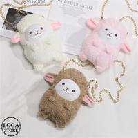ミニ ファーバッグ 羊 ラム 韓国ファッション バッグ ぬいぐるみ ショルダーバッグ 斜め掛け ハンドバッグ メッセンジャーバッグ ミニバッグ (DTC-607851692957)