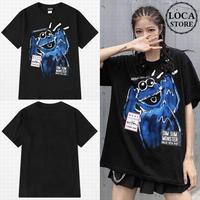 ユニセックス 半袖 Tシャツ メンズ レディース 英字 落書き風 グラフィック プリント オーバーサイズ 大きいサイズ ルーズ ストリート TBN-601586240512