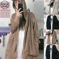 ボアフリースパーカー もこもこ ラムウール オーバーサイズ 韓国ファッション レディース フリース ジップアップ 防寒 ボア 長袖 ゆったり 大人可愛い ガーリー DTC-628626059381