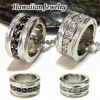 【ハワイアンジュエリー / HawaiianJewelry】 ネックレス プルメリア スクロール ホヌ 石 (gps8722)