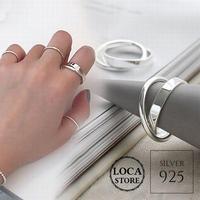 【シルバーアクセサリー】シンプル 2連リング 指輪 シルバー925 レディース #11 #13 #15 kgf0505 (DTC-582997193747)