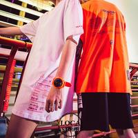 【Nuthink】 3色展開!! ビッグTシャツ(ユニセックス) メンズ レディース 大きいサイズ 原宿 韓国ファッション (DCT-567268826066)