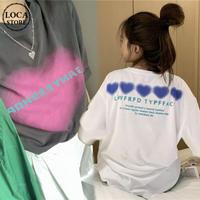 Tシャツ 半袖 シンプル ルーズ カジュアル ストリート系 ガーリー 韓国ファッション レディース DTC-644759524947