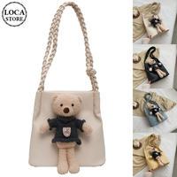 クマのぬいぐるみ ワンショルダートートバッグ アニマルバッグ ショルダーバッグ ミニバッグ バッグ 肩掛け シンプル 鞄 レトロ DTC-624341543778