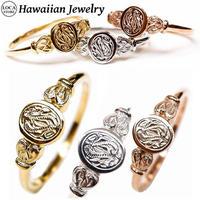 ハワイアンジュエリー リング 指輪 スクロール 波 金属アレルギー対応 メンズ レディース シンプル シルバー ゴールド ピンクゴールド インスタ (grs8717)