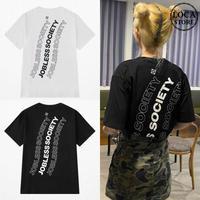 ユニセックス Tシャツ 半袖 メンズ レディース ラウンドネック シンプル 英字 バックプリント オーバーサイズ 大きいサイズ ルーズ ストリート TBN-623334847850