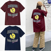 ユニセックス Tシャツ 半袖 メンズ レディース 英字 スマイル ニコちゃんマーク スマイリーフェイス オーバーサイズ 大きいサイズ ルーズ ストリート TBN-616803129789