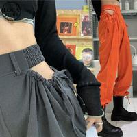 サイドオープン パンツ セクシー 薄手 ハイウエスト 韓国ファッション レディース ボトム 大人可愛い ガーリー DTC-620303160158_b