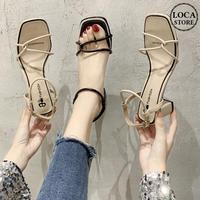 サンダル アンクルストラップ チャンキーヒール 6cm 韓国ファッション レディース ストラップ パンプス キュート 痛くない かわいい 靴 歩きやすい 614220846719