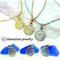 【ハワイアンジュエリー / HawaiianJewelry】 ネックレス メダル イエローゴールド ピンクゴールド ステンレススチール インスタ (gps81050)