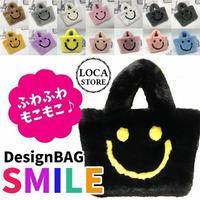 スマイル ファーバッグ BAG ファー もこもこ ミニ ショルダーバッグ おしゃれ 人気 通勤 サブバッグ 韓国 ファッション (DCT-580518208395)