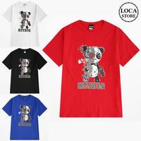 ユニセックス 半袖 Tシャツ メンズ レディース サイボーグパンダ プリント オーバーサイズ 大きいサイズ ルーズ ストリート TBN-577467808827