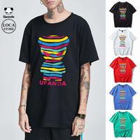 UPANDA 【5カラー】ユニセックス メンズ/レディース 半袖 Tシャツ カラフルパンダ パンダプリント 人気 インスタ ストリート系 (DCT-598509252079)