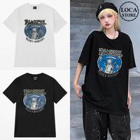 ユニセックス Tシャツ 半袖 メンズ レディース 死神 プリント オーバーサイズ 大きいサイズ ルーズ ストリート TBN-624097152547