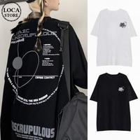 ユニセックス Tシャツ 半袖 ラウンドネック オーバーサイズ 韓国ファッション メンズ レディース トップス 大きめ カジュアル ストリートファッション DTC-638006904577