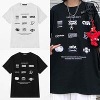 ユニセックス Tシャツ 半袖 メンズ レディース ラウンドネック シンプル プリント オーバーサイズ 大きいサイズ ルーズ ストリート TBN-621134307115