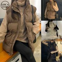 ダウンベスト オーバーサイズ アウター 韓国ファッション レディース ダウンジャケット ベスト 体型カバー 保温 防寒 ゆったり 大人可愛い カジュアル DTC-629381747201