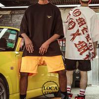 【Nuthink】 2色展開!! オーバーサイズTシャツ 半袖 (ユニセックス) メンズ レディース 大きいサイズ 原宿 韓国ファッション (DCT-564776538879)