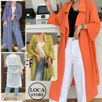 レディース サマーカーディガン ロングジャケット 薄手 7分袖 ロング丈 韓国ファッション (DCT-591288869977)