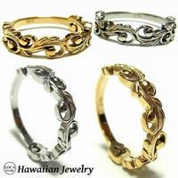 ハワイアンジュエリー リング  指輪 K14イエローゴールドコーティング ホヌ サージカルステンレス インスタ メンズ レディース ペア (grs8627)