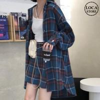 セットアップ チェックシャツ + チェックスカート 韓国ファッション レディース 2点セット チェック柄シャツ スカート 大人可愛い ガーリー カジュアル DTC-626896701811