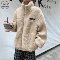 ボアブルゾン 防寒 ジップアップ フェイクラムウール 韓国ファッション レディース ボアジャケット ブルゾン アウター ボア 長袖 ゆったり 大人可愛い ガーリー DTC-627887069696
