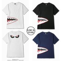 【3カラー】ユニセックス メンズ/レディース 半袖 Tシャツ プリント ビッグT ルーズ ストリート ペア 韓国ファッション (DCT-546311044130)
