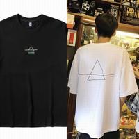 Tシャツ 半袖 メンズ レディース ユニセックス シンプル 刺繍 トライアングル オーバーサイズ 大きいサイズ ルーズ ストリート TBN-612882162226
