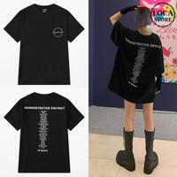 ユニセックス Tシャツ 半袖 メンズ レディース ラウンドネック シンプル 英字 バックプリント オーバーサイズ 大きいサイズ ルーズ ストリート TBN-622148257601
