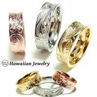 【ハワイアンジュエリー / HawaiianJewelry】 リング/指輪 ピンクゴールド 24KGPイエローゴールド (grs8586)