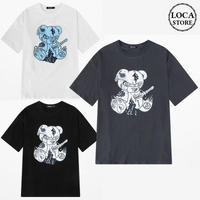 ユニセックス 半袖 Tシャツ メンズ レディース $マーク クマのぬいぐるみ プリント オーバーサイズ 大きいサイズ ルーズ ストリート TBN-611093662393