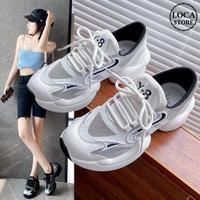 スニーカー レースアップ 5cm 韓国ファッション レディース ダットスニーカー ダッドシューズ ボリュームスニーカー フラットボトム スボーツ 歩きやすい カジュアル 622876187900